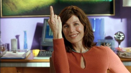 Catherine Keener says it with a smile.